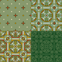 Set of 4 decorative backgrounds