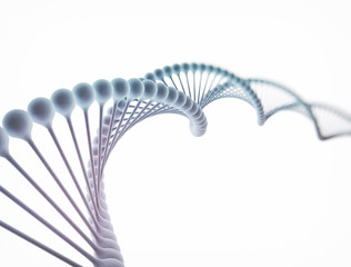 DNA isolated on white background