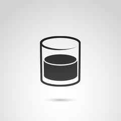 Whiskey glass vector icon.