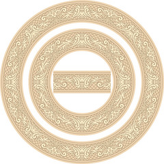 Set of decorative Circle Frames and Seamless element