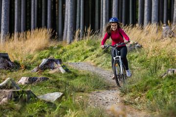 Healthy lifestyle - teenage girl cycling