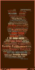 Wortwolke Internationale Ostergrüße