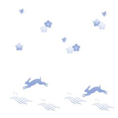 和柄 桜 千鳥 兎 波