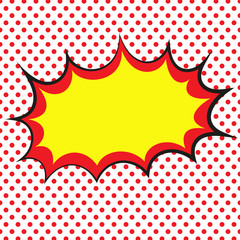 Retro comic book background. Pop art. Vector