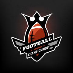 American football championship logo.