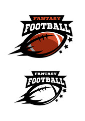 American football fantsy. Two options logo.