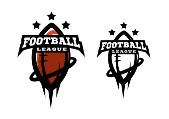 American football. Two options logo.