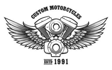 Custom Motorcycle workshop Emblem