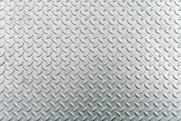 Steel checkerplate metal sheet, Metal sheet texture background. Wall mural