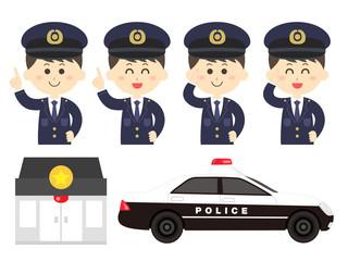 警察官のイラストセット