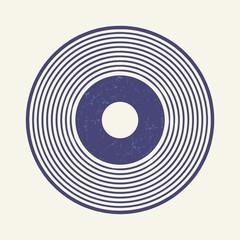 Vinyl record style, lp record symbol