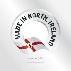 Made in Northern Ireland transparent logo icon silver background