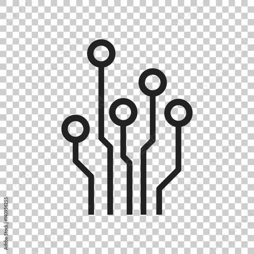u0026quot circuit board icon  technology scheme symbol flat vector illustration on isolated background