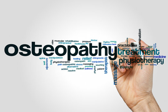 Osteopathy word cloud