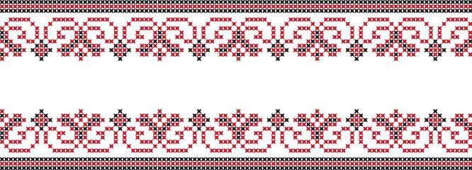 Вышитый узор вышивки крестом украинский национальный
