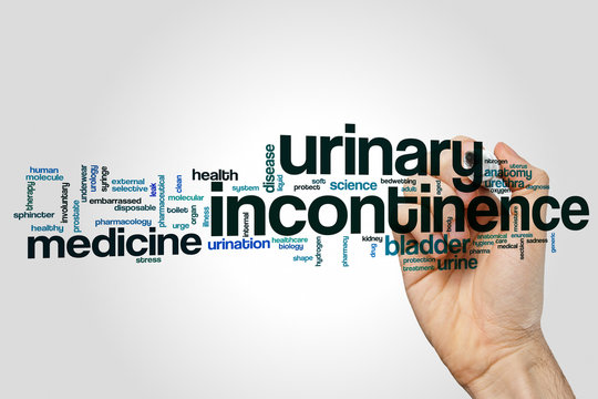 Urinary incontinence word cloud