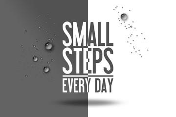 Small Steps Every Day Workout Werben Werbung Sport Fitness Abnehmen