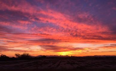 Arizona sunset sky