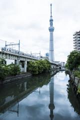 Tokyo Skytree Tower along the Sumida River, Japan