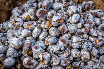 Edible chestnuts - popular street food in Porto, Portugal