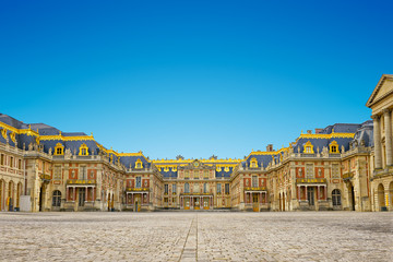versailles palace entrance,symbol of king louius XIV power, France.