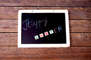 .Easter greetings to the little panel