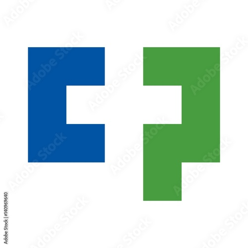 C And P Logo Forming A Cross Symbol Stock Image And Royalty Free