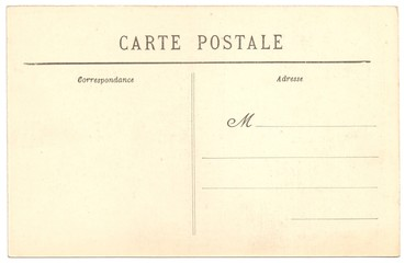 Original Antique Back Side POSTCARD in French language (Carte Postale)