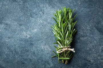 Fresh rosemary twigs