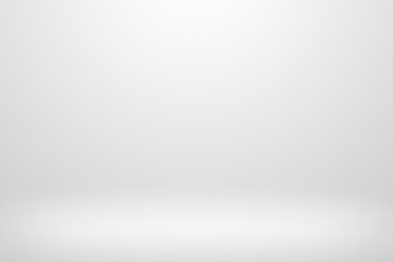 Gray gradient design. Empty white studio background.