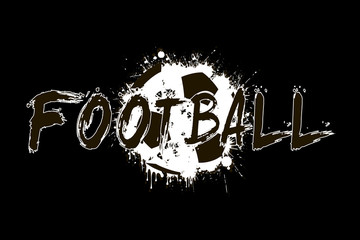 Banner the inscription football on the background abstract soccer