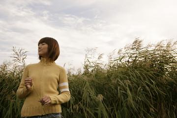 Woman in the field