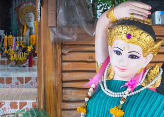 Temple figures in Thailand