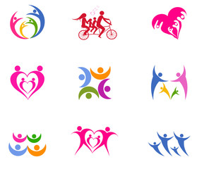 logo vector  happy family day.