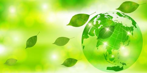 地球 新緑 葉 背景
