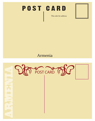 Vintage postcards for messages Armenia