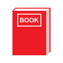 book icon red color isolated vector