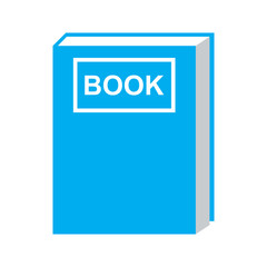 book icon blue color isolated vector
