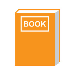book icon orange isolated vector