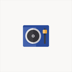 turntable icon flat design