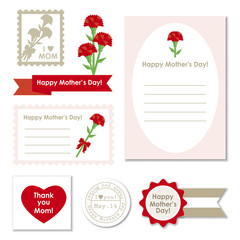 Set of mothers day elements