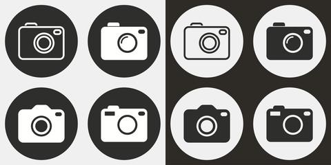 Photo icon set.