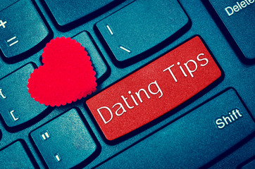 concepts of online dating tips.
