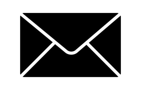 Message envelope or letter envelope flat vector icon for apps and websites