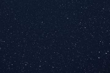 Keuken foto achterwand Nacht snow on a black background