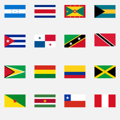 Flags of the states of Latin America