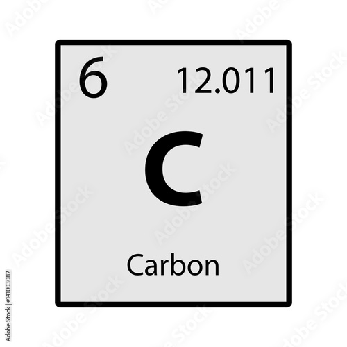 Carbon periodic table element gray icon on white background vector carbon periodic table element gray icon on white background vector urtaz Image collections