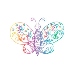 Cute butterfly decorative style.