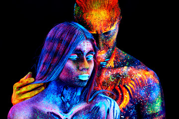 couple UV portrait