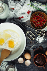 Cooking and mixing of all products for baking